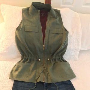 Green Zip Up Vest